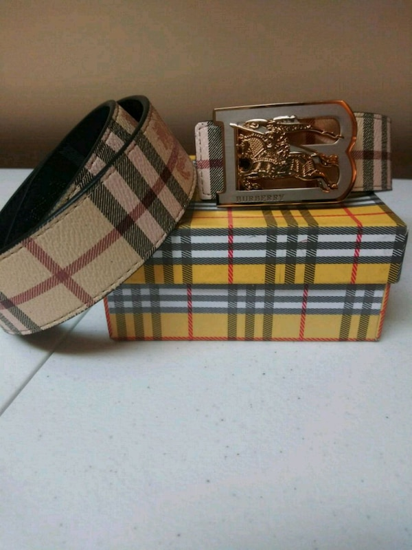 4b4d5f0930f6 Used brown and black Burberry leather belt for sale in Boston - letgo