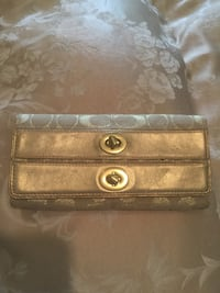 brown leather Coach long wallet San Leandro, 94579