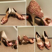 Dusty Rose embroidered high heels Brampton, L6R 0E2