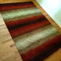 5 x 7.5 area rug shag like new retro ombre colors Warren
