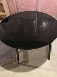 round black glass table 42 inches in diameter
