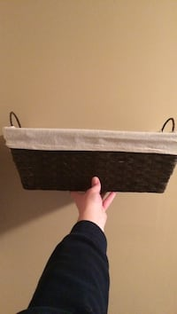 Wicker basket with cloth liner
