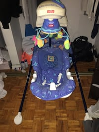Fisher price blue baby swing  Pickering