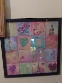 white and pink framed painting Wichita, 67218