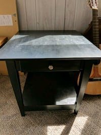 rectangular black wooden side table Sterling, 20164