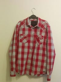 GUESS Red Plaid Long Sleeve Shirt (Large)  Toronto
