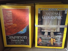 """7 boxes of """"Vintage""""National Geographics(from 1960-up)"""