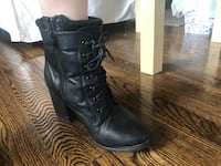 pair of black leather boots Toronto, M9W 4L6