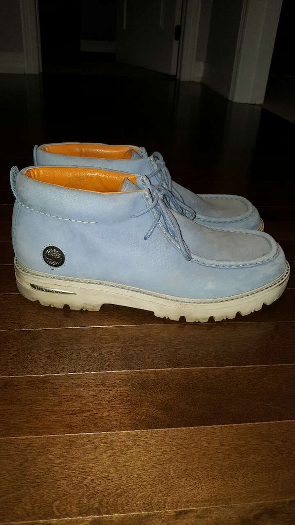 online sale cute cheap performance sportswear Baby Blue Timberland Low Cut Boots Size 13