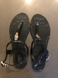pair of black leather sandals Mission Viejo, 92691