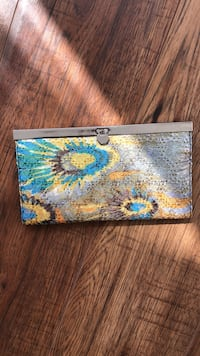 brown and blue floral leather wallet Toronto, M4W 1L1