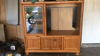 brown wooden TV hutch with cabinet Amarillo, 79109