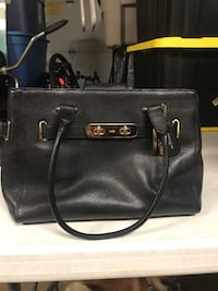 Authentic COACH black leather bag Santa Ana, 92701