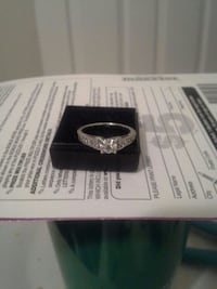 silver and diamond ring in box Port Coquitlam, V3B 3M9