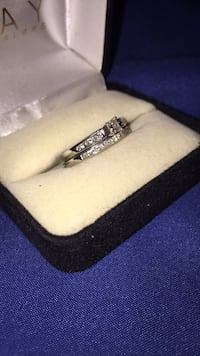 White gold wedding set for sale