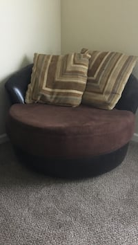 brown and black leather sofa chair Arcade, 95608