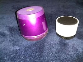 two Bluetooth speakers