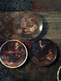 Norman Rockwell Decorative Plates Knowles Columbus, 08022