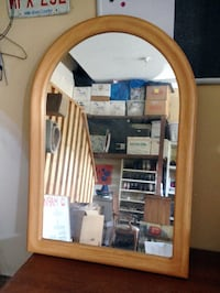 Mirror, solid oak frame with rounded top CALGARY