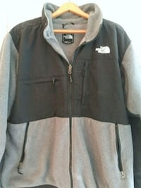 gray and white The North Face zip-up jacket Pottstown, 19465
