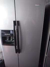gray side-by-side refrigerator with dispenser Westminster