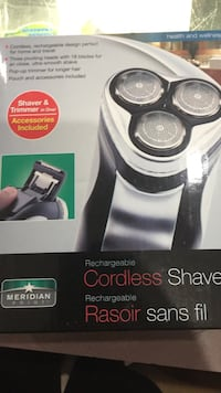 meridian rechargeable cordless shaver box London, N5Z 1R9