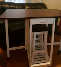 ***PRICED TO GO NOW*** FOLDING TABLE WITH STOOLS  Toronto, M4C 2R4