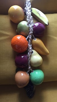 orange , teal , brown, white and purple beaded accessory Stafford, 22556