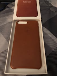 iPhone 7 Plus or 8 plus Saddle Brown Leather Case.