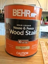 Behr Solid Colour House and Fence Wood Stain can