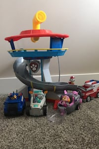 Paw patrol tower and pups Maple Ridge, V2W 0B7