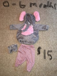 0-6 month Elephant Halloween costume  Evansville, 47725