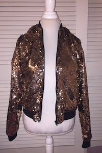 Gold sparkly zip up jacket Manchester, 03104