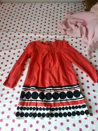 red and white polka dot long-sleeved dress Montréal, H4L 5J2