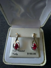 Ruby infinity earrings