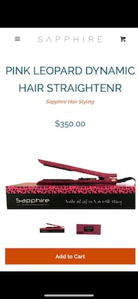 Sapphire Pink Leopard dynamic straighter