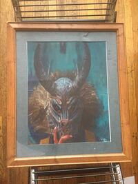 Black Panther framed print. See pictures of damage to top.
