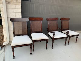 Sutton cane back chairs
