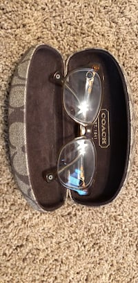 Brown-framed coach eyeglasses with clamshell West Chester, 45069