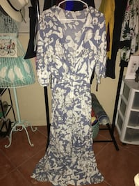 white and black floral scoop neck sleeveless dress Lauderdale-by-the-Sea, 33308
