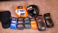 three assorted color power tools Victorville, 92395