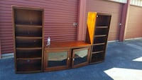 brown wooden TV hutch with flat screen television Little Rock, 72223