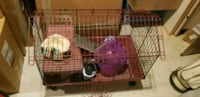 Animal cage with accessories on wheels Manchester Township, 08759