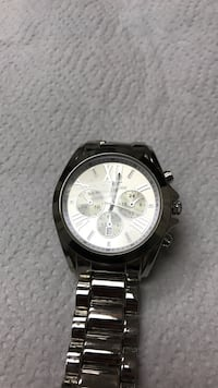 Silver link bracelet chronograph watch Sterling Heights, 48314