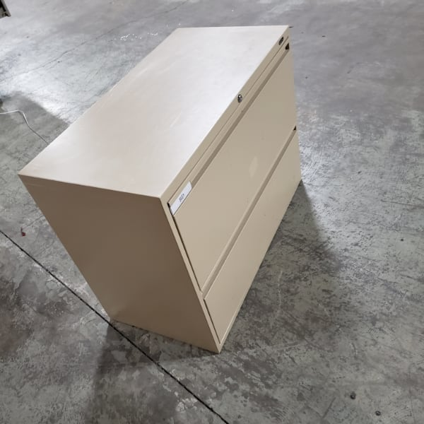 Metal 2 Drawer Filing Cabinet For Sale