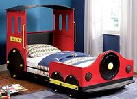Retro Express Twin Size Train Bed for Kids Arlington
