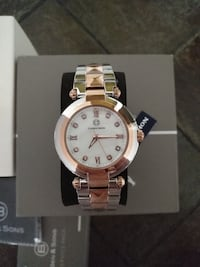 NEW Ben & Sons Cabochon Cairo Women's Rose Gold/Silver Watch 548 km
