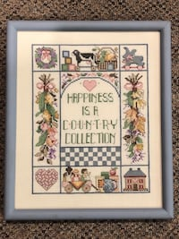 Hand cross-stitch country picture Mount Carmel, 37645