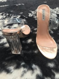 Rose Gold. Clear heels. Brand New Richmond Hill