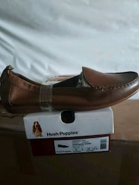 pair of brown leather loafers Toronto, M9N 1M6